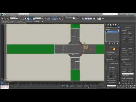 CGI 3D Tutorials : 3ds Max Creating City Blocks Part 9 Road Variations