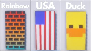 Minecraft: 7 Cool Baฑner Designs #6 (Tutorial)