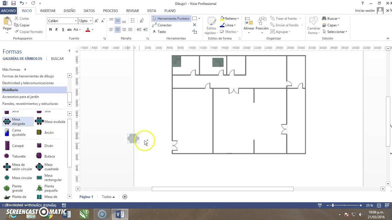 Visio plano de vivienda youtube for Hacer plano vivienda