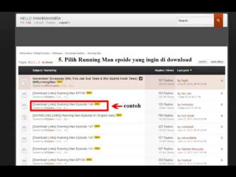 How to Download Running Man on KshowNow Forum (EASY)