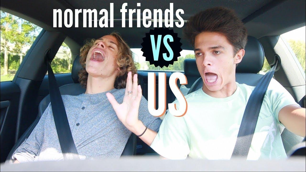 Normal Friends VS Us.. | Brent Rivera