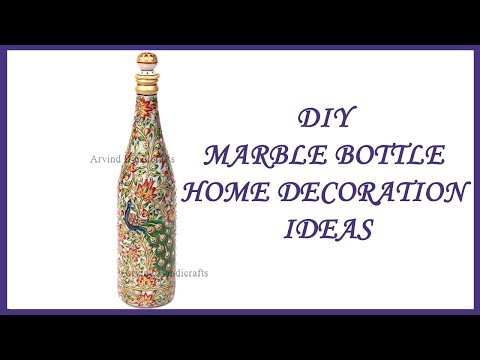 DIY MARBLE BOTTLE HOME DECORATION IDEAS BY ARVIND HANDICRAFTS JODHPUR