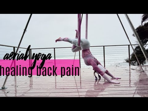 aerial yoga for healing your body  back pain  20 minute