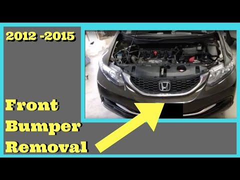 2012 2013 2014 2015 HONDA CIVIC—- How to Remove Replace Install Front Bumper Removal