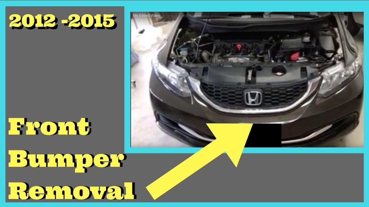 Maxresdefault on 2012 Honda Civic Bumper Removal