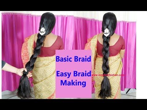 How to: Basic Braid Hair Style with Long Medium Length Silky Shiny Hair