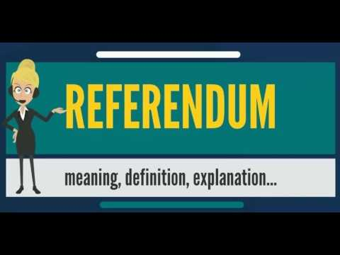 What is REFERENDUM? What does REFERENDUM mean? REFERENDUM meaning, definition & explanation