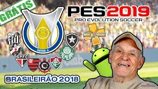 Como jogar pes 2019 times BR psp Android gameplay