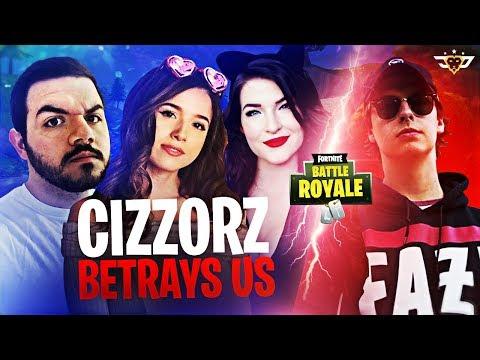 CIZZORZ BETRAYS POKIMANE, KITTYPLAYS, AND COURAGE! (Fortnite: Battle Royale)