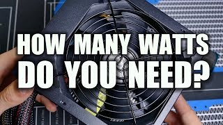 How to Pick the Correct Wattage Power Supply