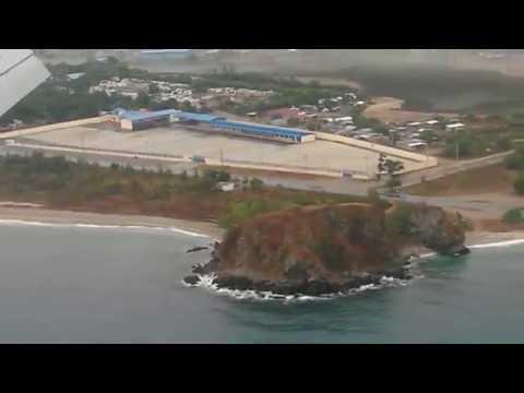 Landing at dili, timor leste