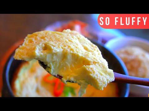 Korean Steamed Egg Recipe + Mukbang; Gyeran Jjim 계란찜; Fluffy Hot Steamed Egg [뚝배기 계란찜]