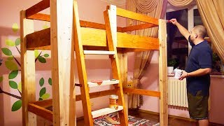 видео Стол-кровать в два яруса!