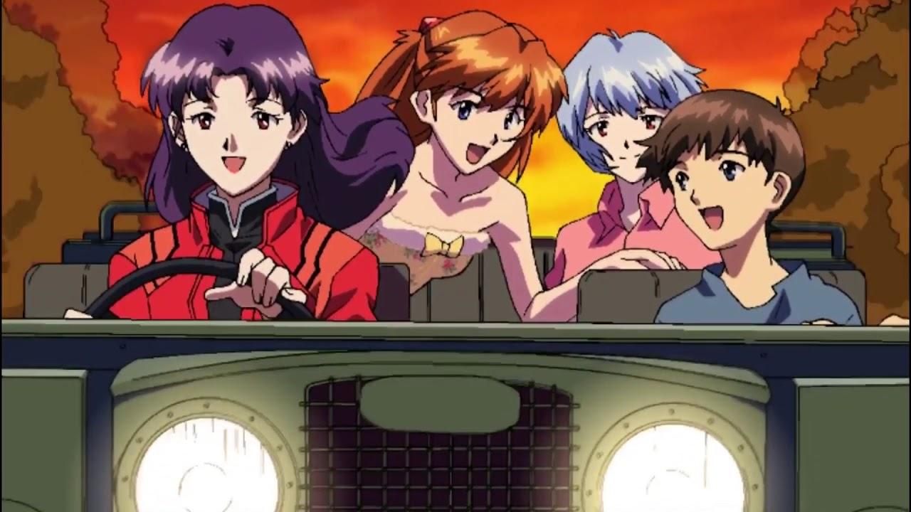 Evangelion music video ► Asuka x Shinji x Ayanami Rei x Misato ◄  •【Kavinsky - Nightcall】