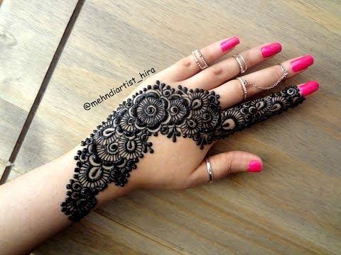 Simple mehndi designs bail beautiful latest simple strip bail eid special henna mehndi designs for hands tutorial thecheapjerseys Gallery