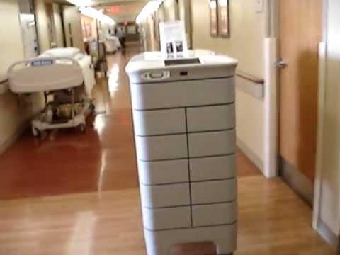 TUG Robot Getting On Elevator