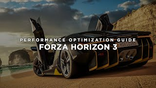 Forza Horizon 3 - How to Improve Performance and Reduce/Fix Lag on Low End PC
