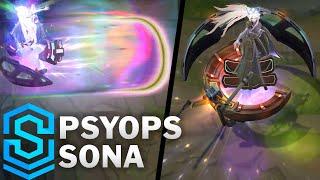 PsyOps Sona Skin Spotlight - Pre-Release - League of Legends