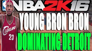 Young LeBron Dominating the Pistons (NBA 2K16 Online Gameplay)