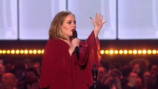 Adele wins BRITs Global Success Award  | The BRIT Awards 2016
