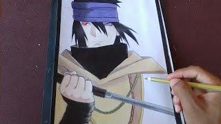 Speed Drawing - Sasuke the last (Naruto the movie) | Especial 200 inscritos