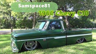 Bagged 1966 Chevy C10 Custom Cab Truck -Waxahachie, Texas Fleetside Samspace81 Hot Street Rod Video