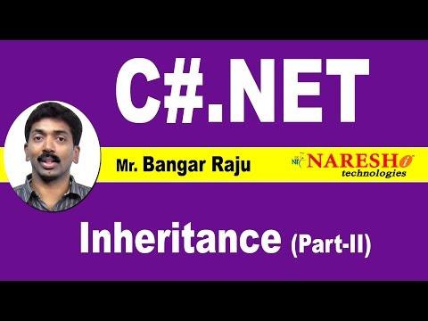 Inheritance - Part 2 | C#.NET Tutorial | Mr. Bangar Raju