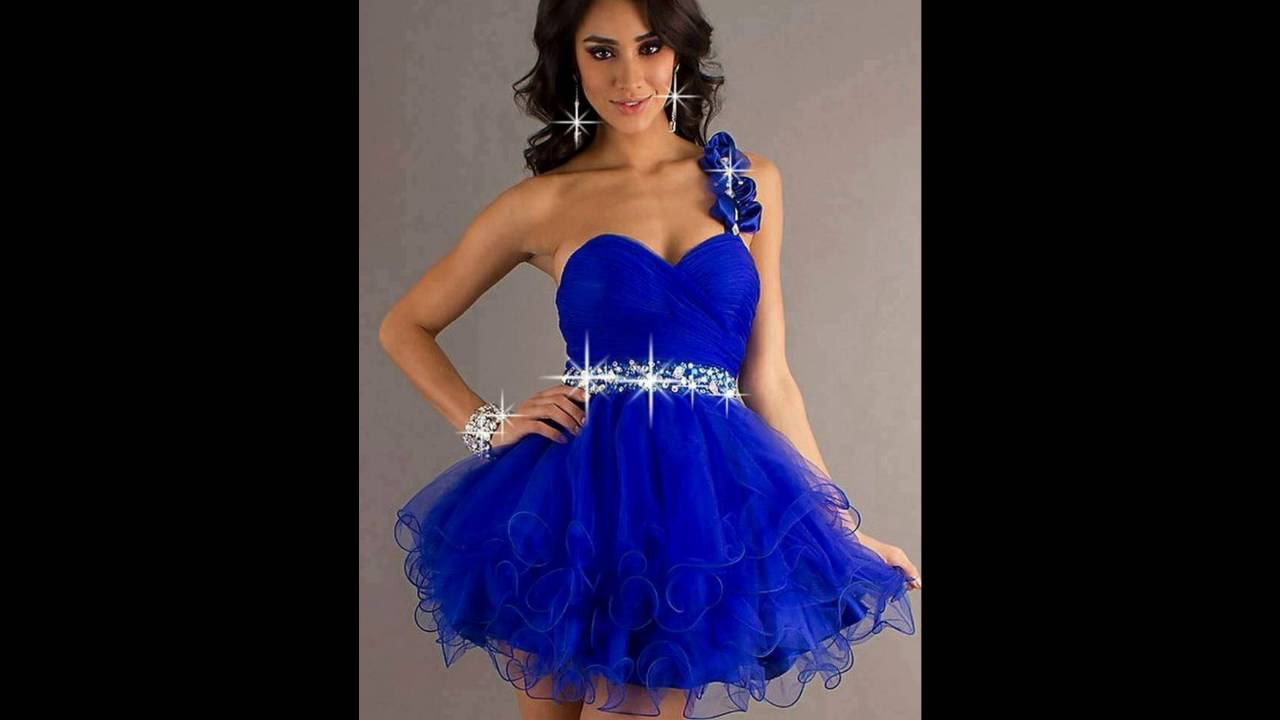 Vestidos de graduacion de primaria color azul rey