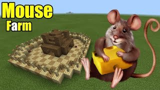 How to Make a Mouse Farm | Minecraft PE thumbnail