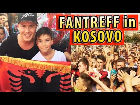 Fantreffen in Kosovo ♡  #LeonMachère