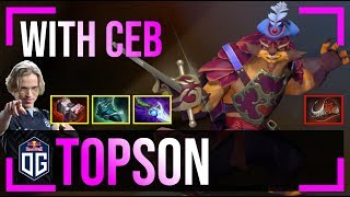 Topson - Pangolier MID | with Ceb (Crystal Maiden) | Dota 2 Pro MMR Gameplay #5
