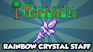 Best Terraria 1.3 Weapons - The 'Rainbow Crystal Staff' - Amazing Summoners Staff [1.3]
