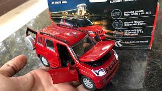 Розпакування 2016 року компанія Mahindra TUV300 1/32 лиття під тиском моделі автомобіля іграшки зі світлодіодним | дешевші і кращі
