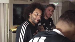 MARCELO, BALE, RAMOS and their teammates   FUNNY MOMENTS Emirates A380!