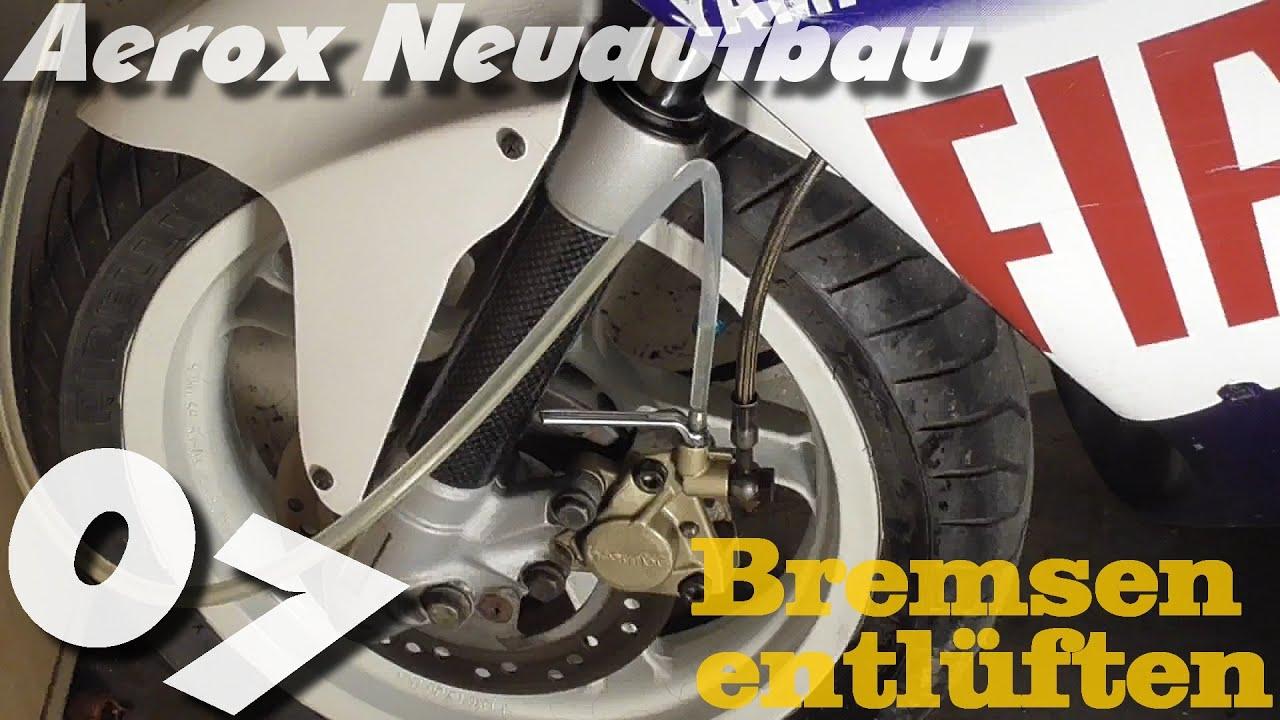 aerox neuaufbau 07 bremsfl ssigkeit wechseln und bremsen. Black Bedroom Furniture Sets. Home Design Ideas