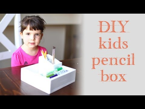 DIY Wood Pencil Box