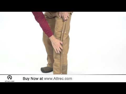 94815df070 Carhartt Men's Duck Zip-To-Hip Bib Overall - Quilt Lined - YouTube