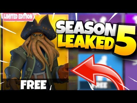 *NEW* SEASON 5 BATTLE PASS SKINS LEAKED! SALTY SPRINGS GETTING DESTROYED! NEW MAP COMING (Fortnite)