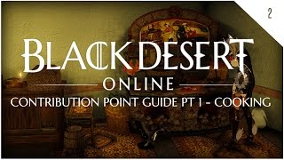 bdo contribution point guide pt 1 cooking