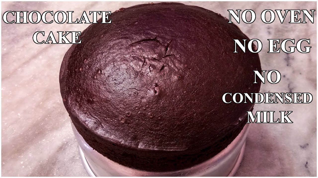 Chocolate cake without oven no egg | very soft chocolate ...