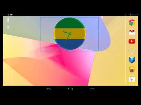 Gabon Clock Widget for Android