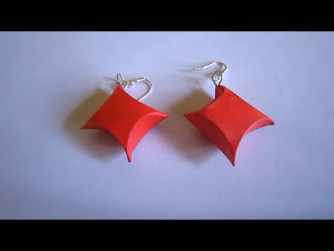 Handmade Jewelry - Paper Gift Box Earrings