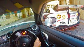 【GoPro】もしも親子GTR2台で走ってみたら???