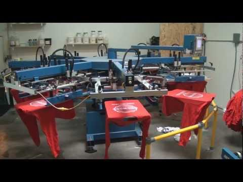 Automatic Textile Screen Printing