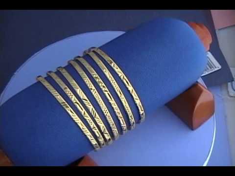 18k Gold 7 Day Bangle Bracelets Youtube