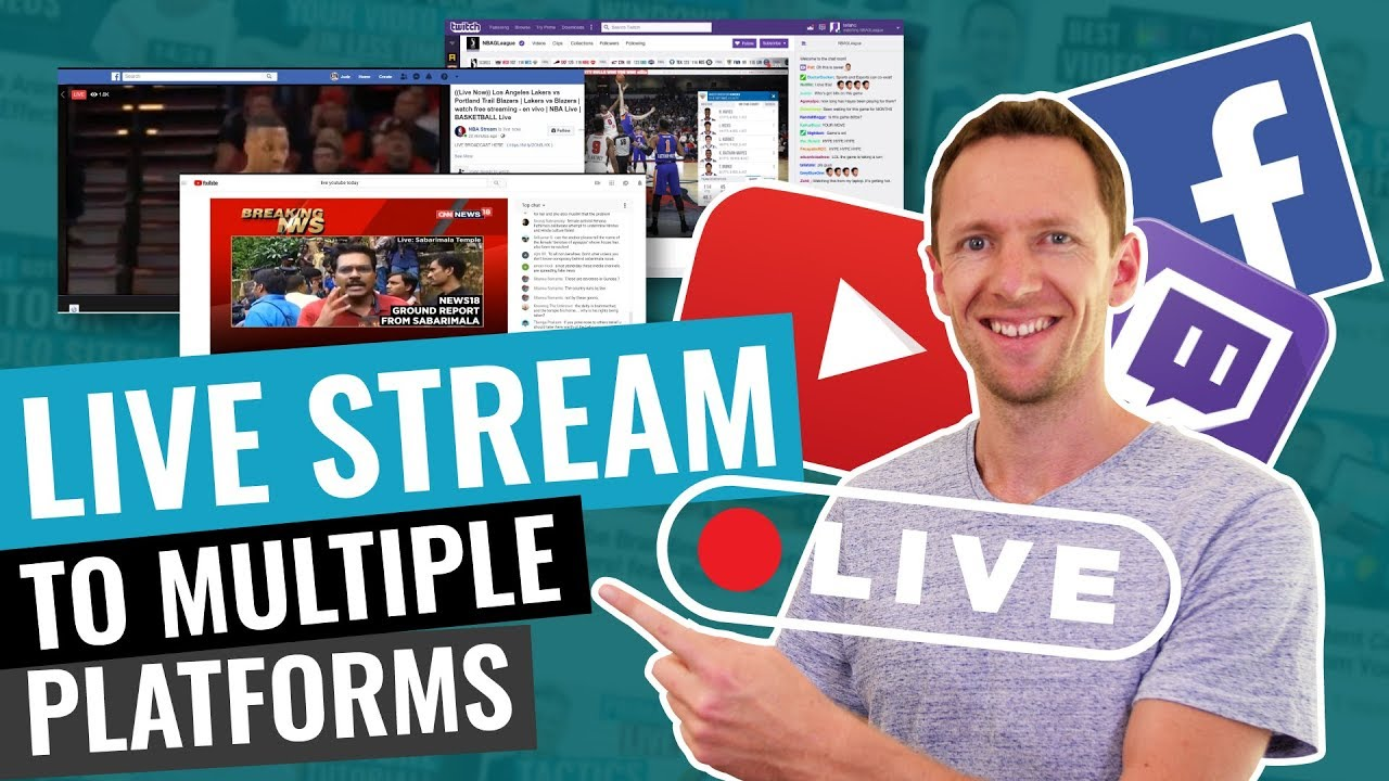 Live Stream to Multiple Platforms at the same time (How to Simulcast!)