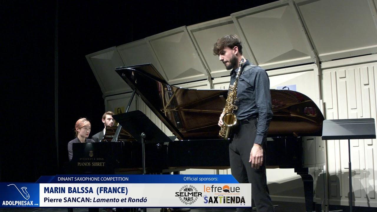 Marin Balssa )France) - Lamento et Rondó by Pierre Sancan (Dinant 2019)