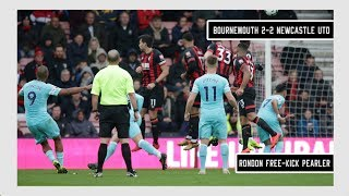 Salomon Rondon free-kick vs Bournemouth   Bournemouth 2-2 Newcastle United