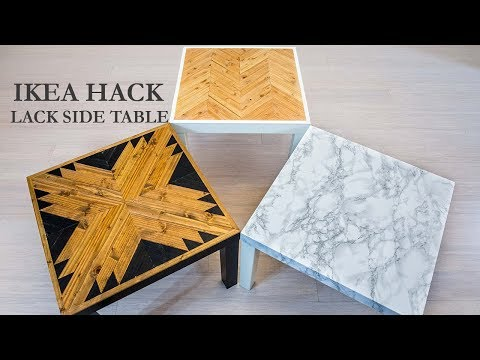 IKEA Hack LACK Side Table DIY