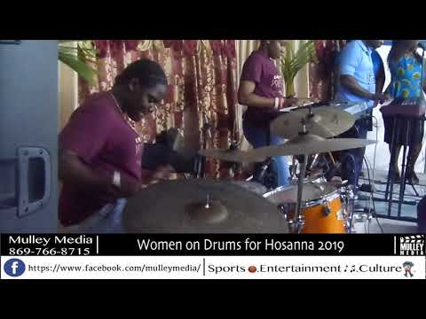 Love when females play the drums.. These girl touch up hosanna 2019..